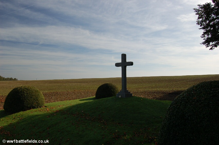 Approximate area of Wilfred Owen's dugout near Serre Road No. 2 Cemetery