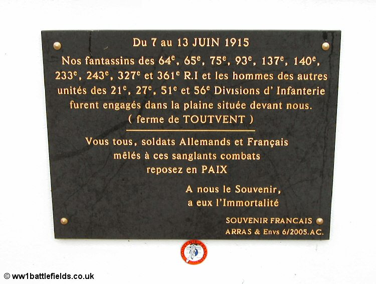 Plaque at chapel near Serre
