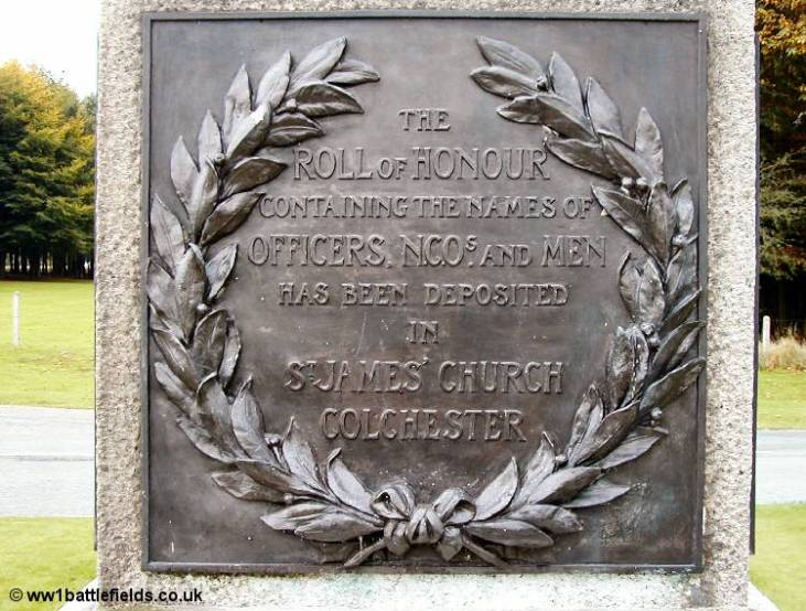 Inscription on the Memorial