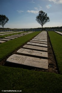 Headstones laid flat at Mill Road