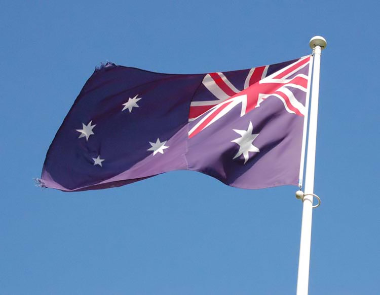 Australian Flag at Villers-Bretonneux