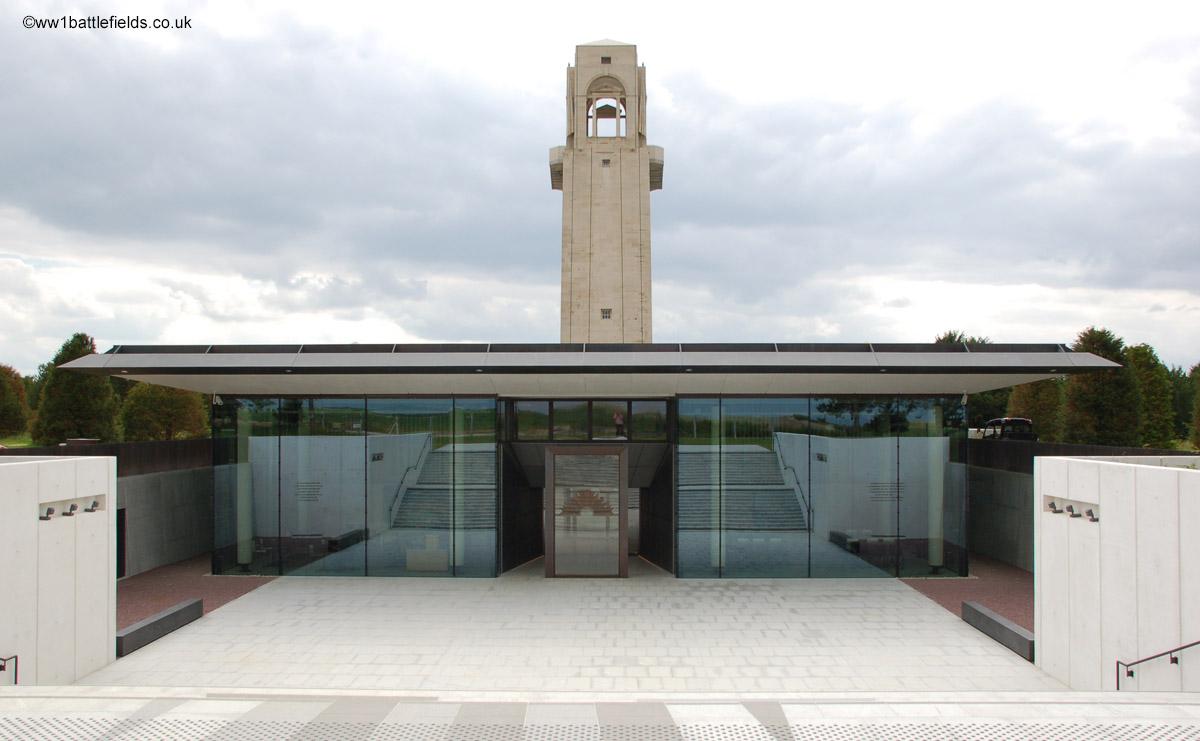 Entrance to the Sir John Monash Centre at Villers-Brettoneux