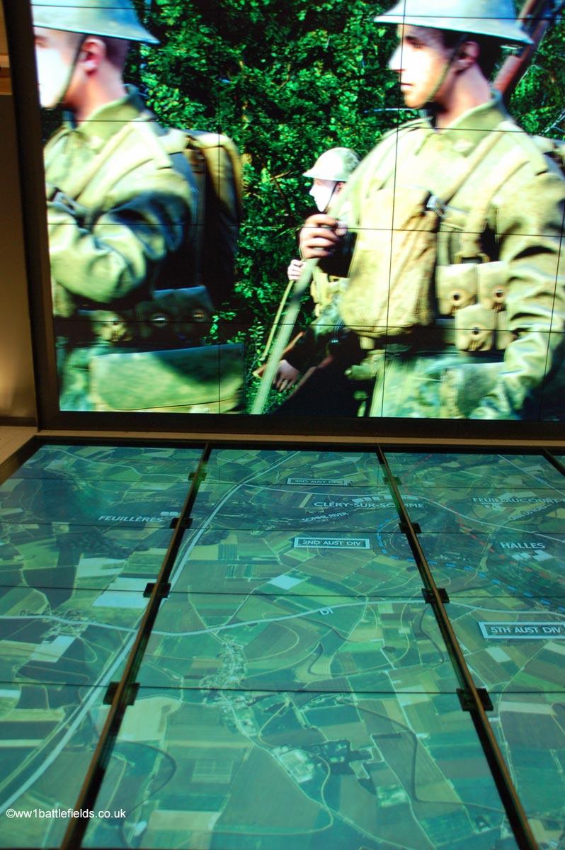 Audio-visual display at the Sir John Monash Centre at Villers-Brettoneux
