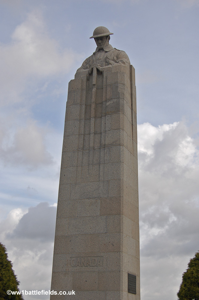 The Canadian Brooding Soldier Memorial at Vancouver Corner, Langemark