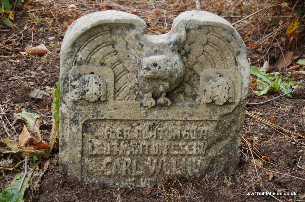 Original grave stone at Mangiennes German Cemetery