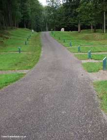 This was the main road through the village -post mark the site of houses - Douaumont