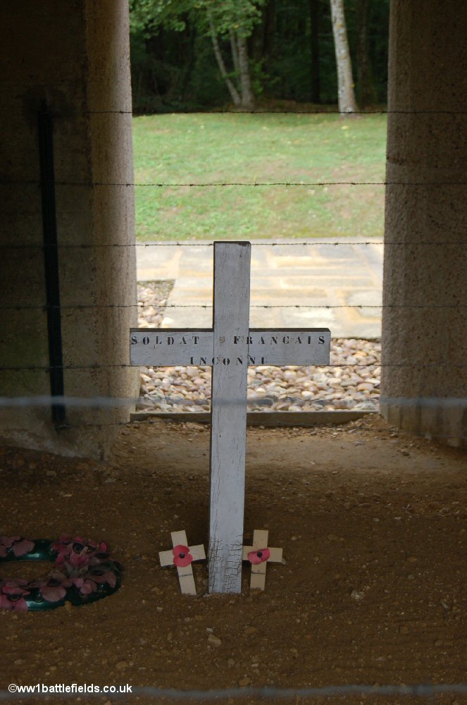 One of the crosses at the Trench of Bayonets, Verdun