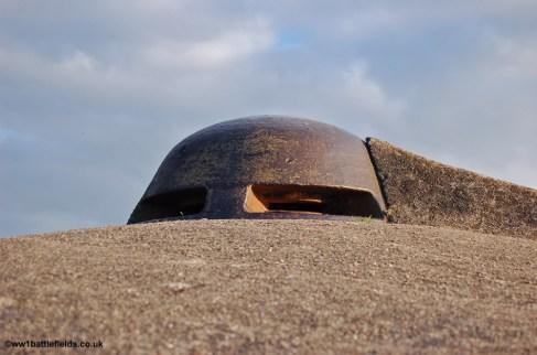 Gun turret at Fort Vaux