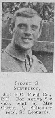 Sidney G Stevenson
