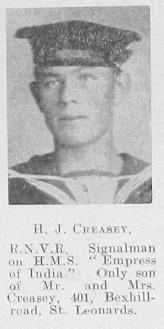 H J Creasey