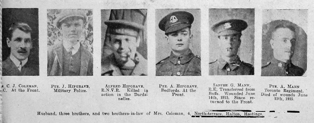 Coleman, C J, Hipgrave & Mann