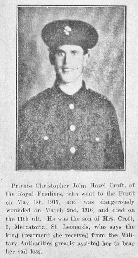 Christopher John Hazel Croft