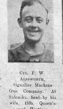Frederick W Alesworth