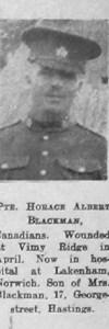 Blackman, Horace Albert