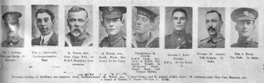 Gower, Griffiths, White, Kent Tucker, Ashton, Hills