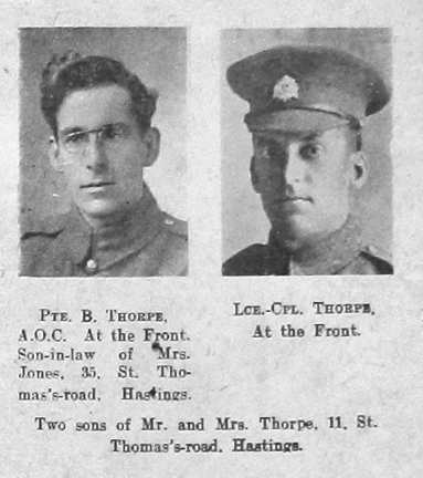 Thorpe, Unknown First Name