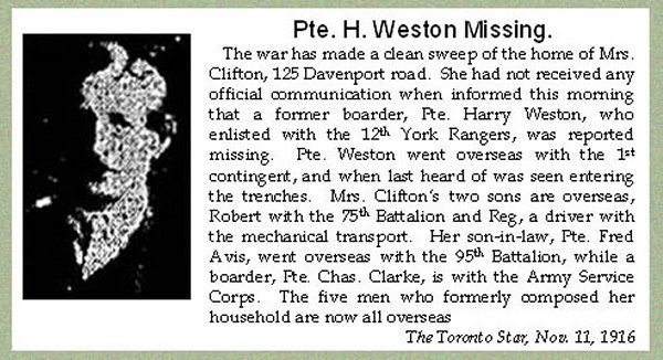 Weston, Harry W