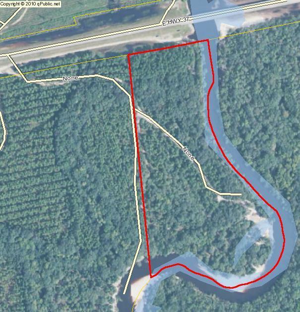 Pafford's Landing map