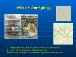 White Sulfur Springs, Then and Now