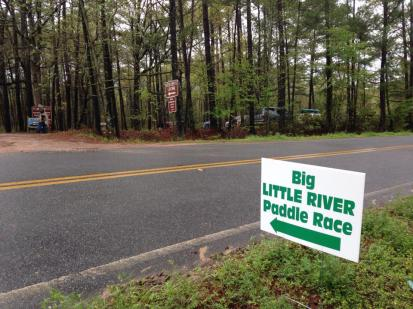 960x720 This way to the BIG Little River Paddle Race, in Before, by Gretchen Quarterman, for WWALS Watershed Coalition, Inc., 29 March 2014