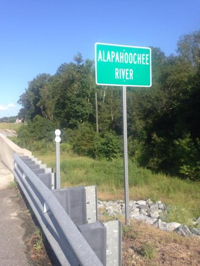 720x960 Sign, in Alapahoochee River, by April Huntley, 1 September 2014