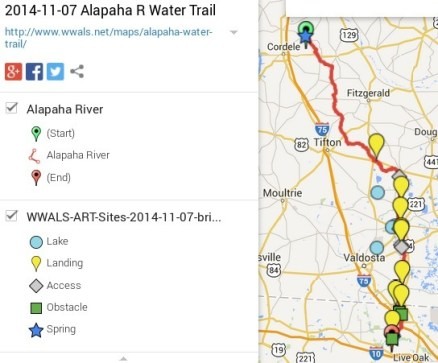 544x451 Alapaha River Legend, in Alapaha River Water Trail draft map, by John S. Quarterman, for WWALS.net, 7 November 2014