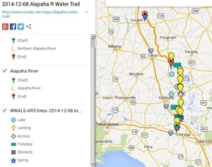 300x237 Alapaha River Legend, in Alapaha River Water Trail draft map, by John S. Quarterman, for WWALS.net, 8 December 2014