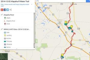 300x199 ARWT FL Legend, in Alapaha River Water Trail draft map, by John S. Quarterman, for WWALS.net, 2 December 2014