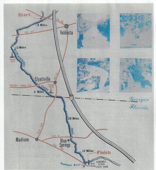 600x654 Map, in Canoe Guide to the Withlacoochee River Trail, by John S. Quarterman, for WWALS.net, 0  1979
