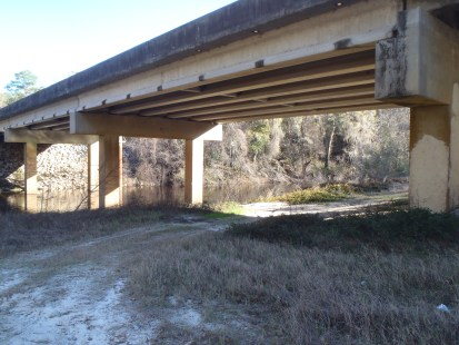 4288x3216 Under the bridge, in Alapaha River at Statenville, January 2014 WWALS Outing, by Gretchen Quarterman, 18 January 2014