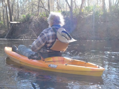 4288x3216 Kayaking, in Alapaha River at Statenville, January 2014 WWALS Outing, by Gretchen Quarterman, 18 January 2014
