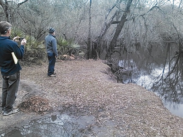 600x450 Cherry Creek Sink full of water 30.902192, -83.312247, in Sinkholes near the Withlacoochee River, by John S. Quarterman, for WWALS.net, 18 February 2015
