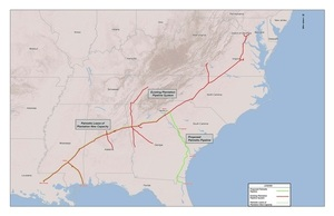 300x194 Map of Palmetto Project and Plantation Pipe Line, in Palmetto Project, by Kinder Morgan, for WWALS.net, 5 March 2015