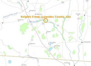 300x219 Knights Creek in Valdosta, in Knights Creek, Valdosta, Georgia, by USGS Streamer, for WWALS.net, 28 February 2015
