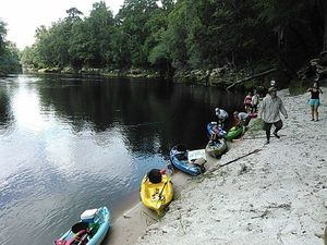 Suwannee River at Five Holes 30.4177494, -83.1547851