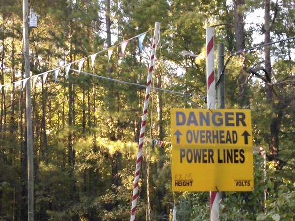 Danger Overhead Power Lines,