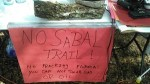 No Sabal Trail! No fracking Florida! You can not drink gas or oil, 30.3531800, -83.1565540