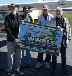 John S. Quarterman (WWALS), Dominick Gheesling, Roy Zimmer (Southwings), Jim Tatum (OSFR)