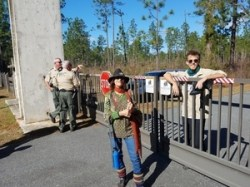 FWC, Laura Dailey, Dylan Hansen, SRSP closed gate, 30.3788114, -83.1657346