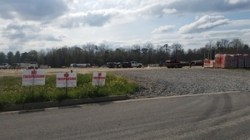 No Trespassing on publicly-owned land, 30.7618355, -83.5522531