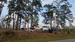 Well drilling equipment, Knights Ferry Road, 30.7485032, -83.4017858