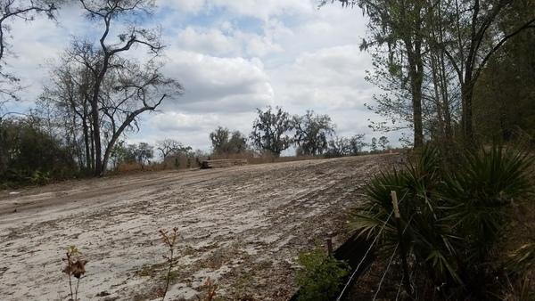 Pipeline destruction next to Suwannee River State Park