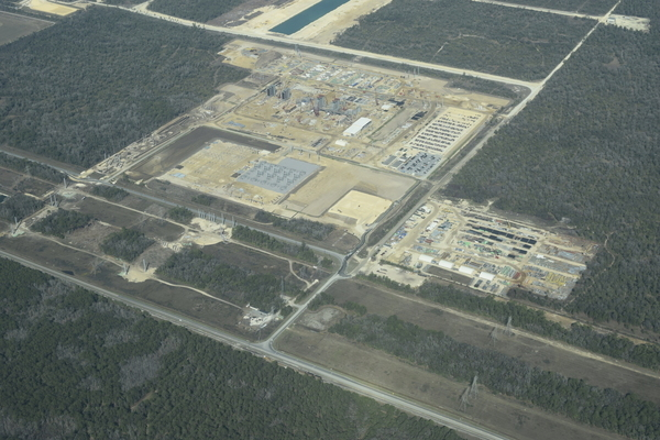 End of Sabal Trail Citrus County Line at Duke natural gas plant, Crystal River, FL,