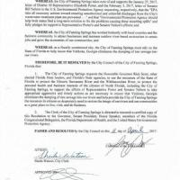 Protection of the Suwannee River against Valdosta Sewage --City of Fanning Springs, FL 2017-04-11