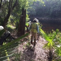 Sabal Trail sign installation at SRSP, 2017-05-19