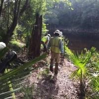Sabal Trail sign installation at SRSP, 2017-05-19