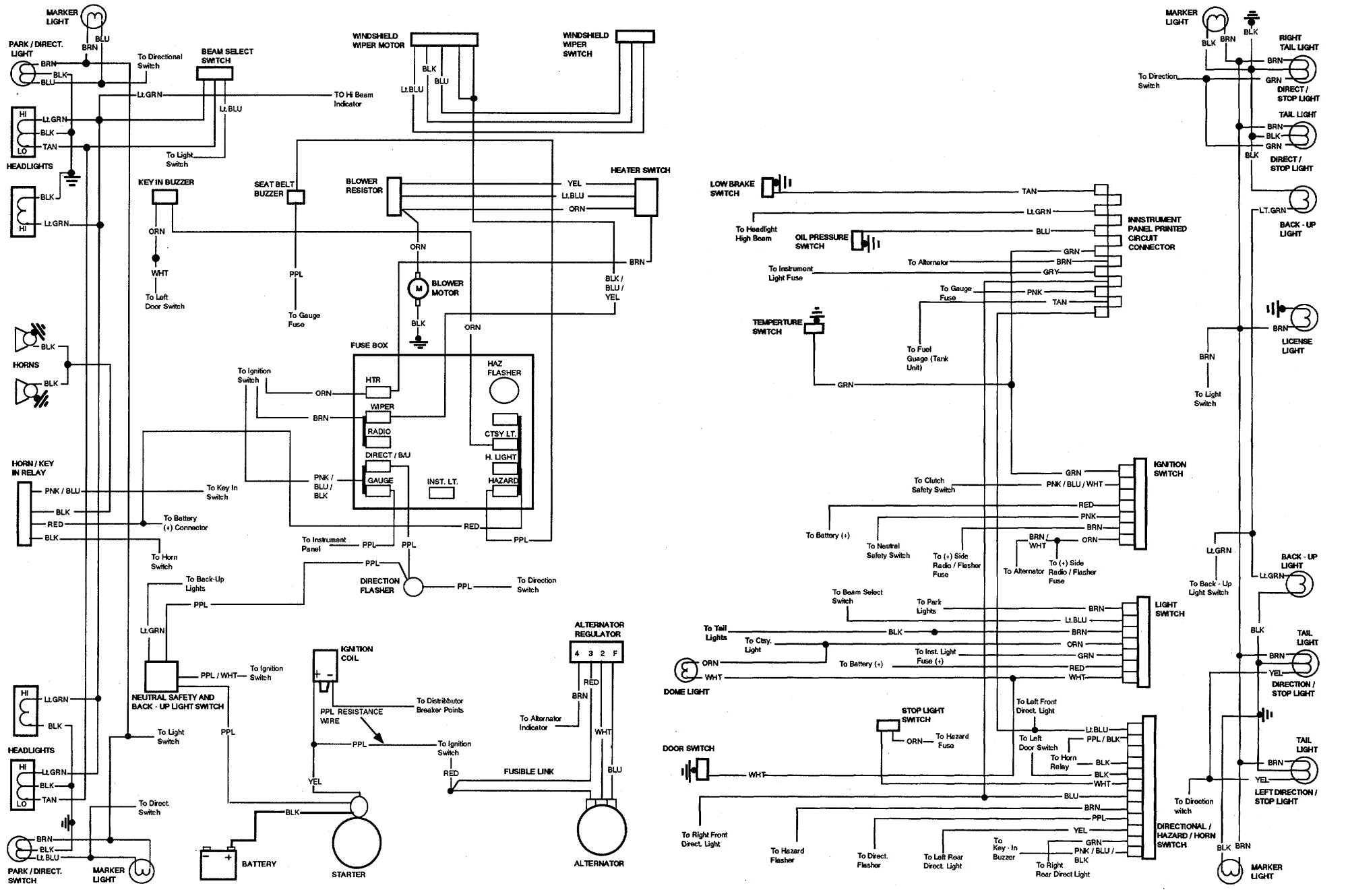72 Chevy Nova Wiring Diagram Wiring Diagram For Chevelle