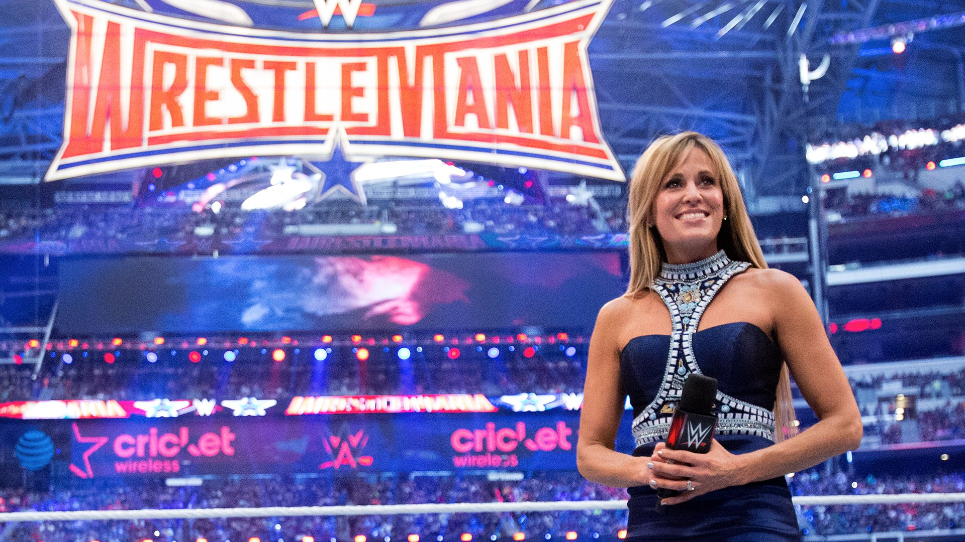 Image result for Lilian Garcia to guest ring announce the first-ever WrestleMania Women's Battle Royal