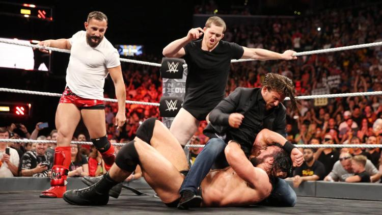Bobby Fish and Kyle O'Reilly return, this time with multiple time World Champion Adam Cole, and proceeded to beat down the new NXT Champion at the close of NXT TakeOver: Brooklyn III.