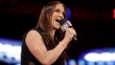Stephanie McMahon soon brings order, stating that if Cena beats Rollins or Styles beats Ambrose, they will be added to the WWE Title Match at WWE Battleground.